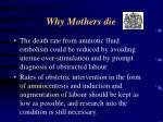 why mothers die