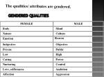 gendered qualities