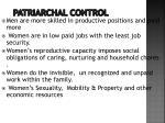 patriarchal control