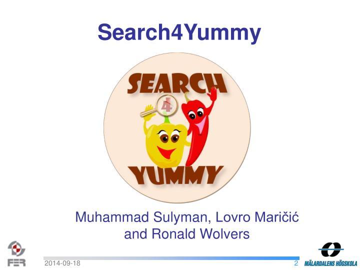 Search4Yummy