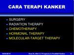 cara terapi kanker