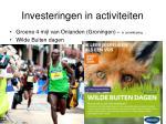 investeringen in activiteiten