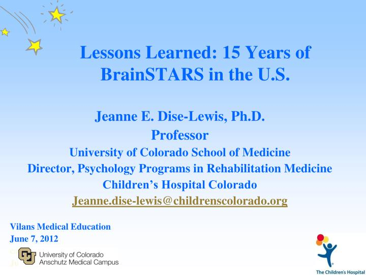 lessons learned 15 years of brainstars in the u s n.
