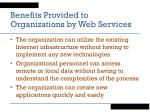 benefits provided to organizations by web services