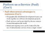 platform as a service paas con t