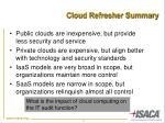 cloud refresher summary