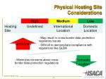 physical hosting site considerations