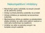nekompetitivn inhibitory