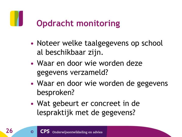 Opdracht monitoring