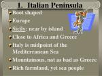 1 italian peninsula
