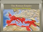 the roman empire from britain to mesopotamia