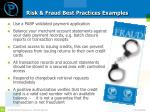 risk fraud best practices examples