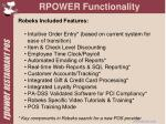 rpower functionality
