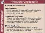 rpower functionality8