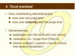 4 good practices