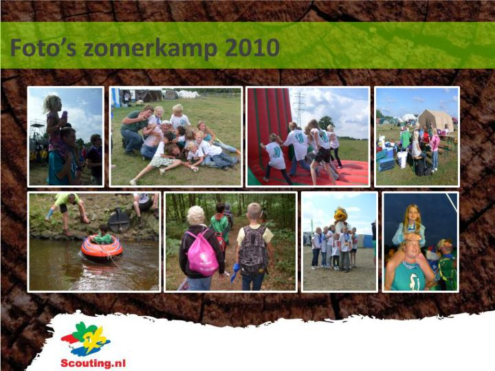 Foto's zomerkamp 2010
