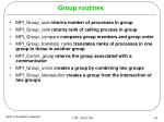 group routines