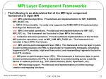 mpi layer component frameworks
