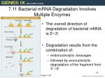 7 11 bacterial mrna degradation involves multiple enzymes