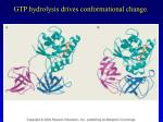 gtp hydrolysis drives conformational change