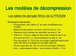 les mod les de d compression7