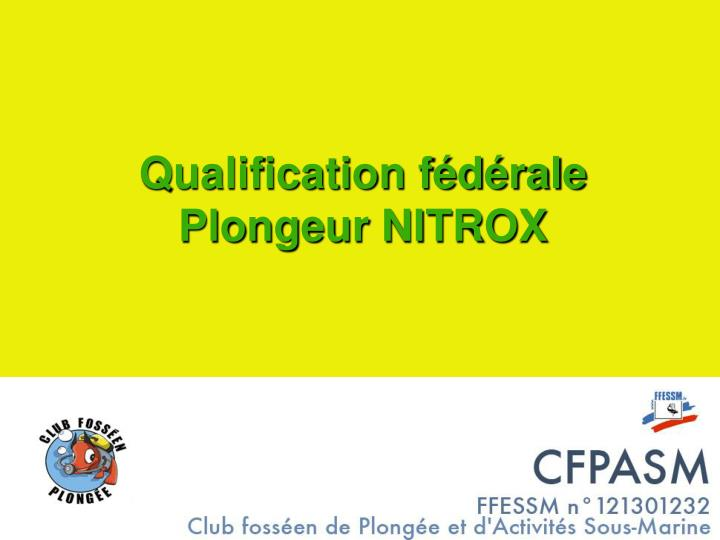qualification f d rale plongeur nitrox n.