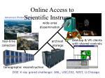 online access to scientific instruments