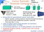 cactus example terascale computing