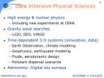 data intensive physical sciences