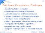 grid based computation challenges