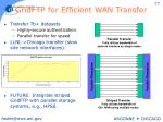 gridftp for efficient wan transfer