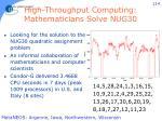 high throughput computing mathematicians solve nug30