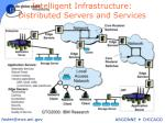 intelligent infrastructure distributed servers and services