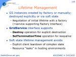 lifetime management