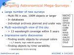 ongoing astronomical mega surveys