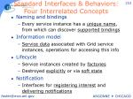 standard interfaces behaviors four interrelated concepts