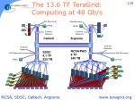 the 13 6 tf teragrid computing at 40 gb s