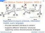 the globus toolkit solution mds 2
