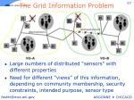 the grid information problem