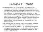 scenario 1 trauma