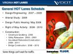 general hot lanes schedule