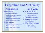 congestion and air quality