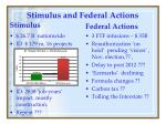 stimulus and federal actions