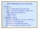 vmt mileage taxes and tolls