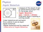 physics angular momentum