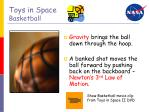 toys in space basketball