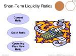 short term liquidity ratios