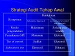 strategi audit tahap awal