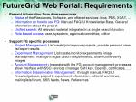 futuregrid web portal requirements