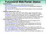 futuregrid web portal status